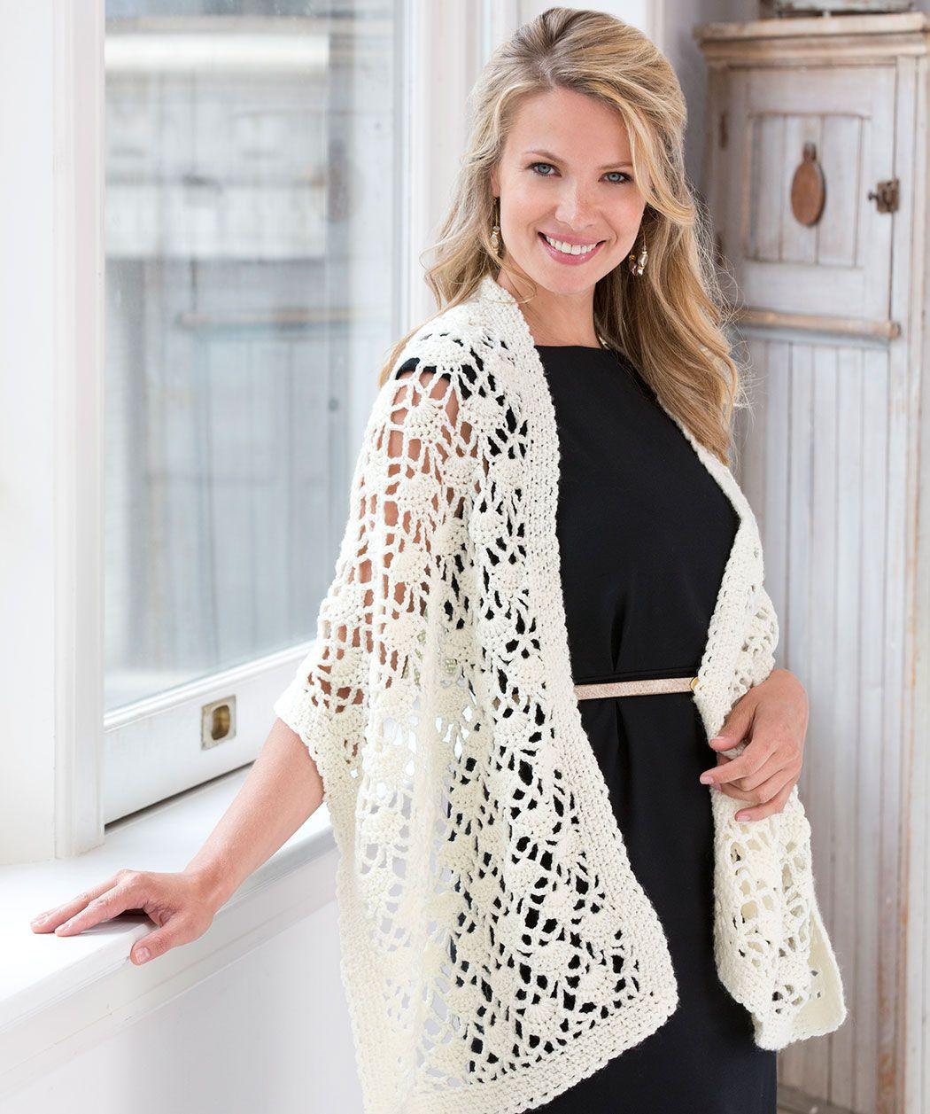 Crochet Lacy Wrap | Crochet & Knitting | Pinterest | Chal, Tejido y ...
