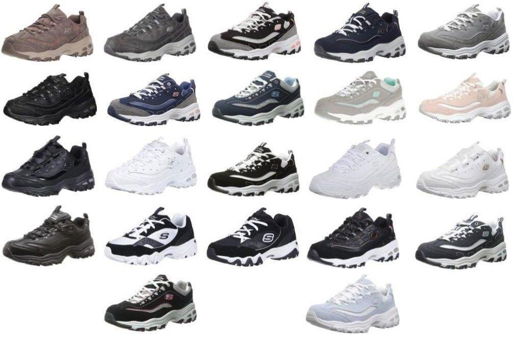 Skechers D'Lites Memory Foam Women's Casual Fashion Sneakers