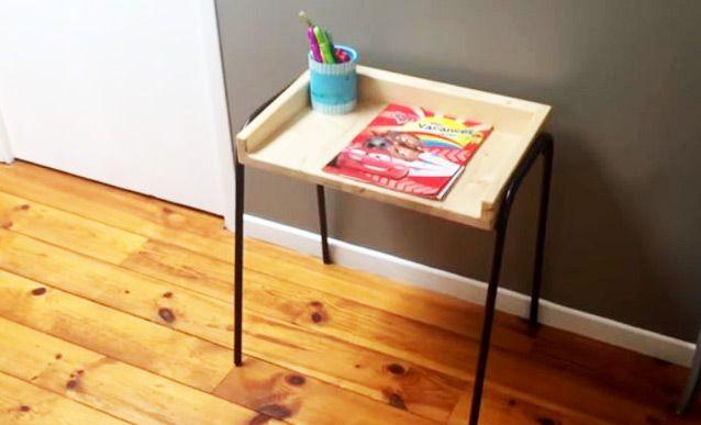 DIY  un bureau d\u0027enfant en bois et métal de récupération Bureaus - reparation de porte en bois