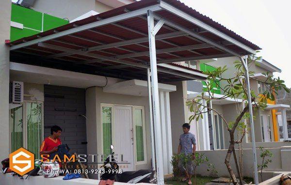 63 Gambar Canopy Baja Ringan Terbaik Minimalis Desain Dan Rumah