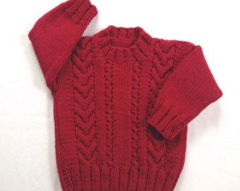 Toddler red sweater - 12 to 24 months - Christmas sweater - Toddler red jumper - Toddler clothing