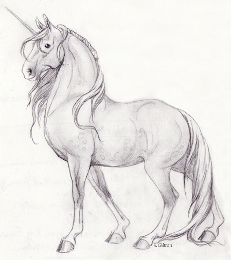 Deviantart more like unicorn sketch by lunatteo