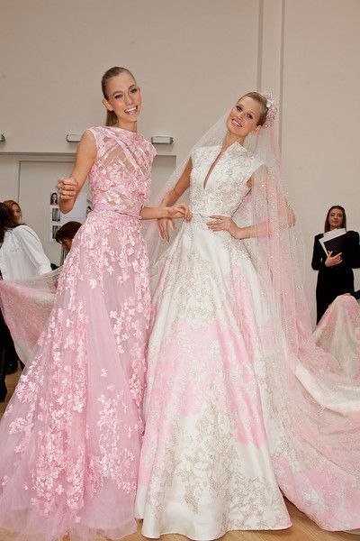 Elie Saab Spring 2012 - Backstage.  Gorgeous gowns!