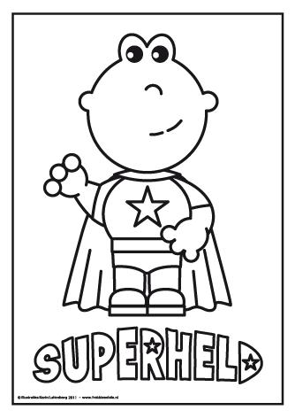 kleurplaten superhelden kinderboekenweek