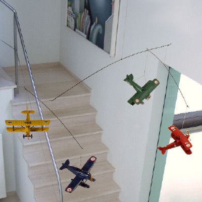 Flight mobile  sporty  wright bros also kids playroom rh pinterest