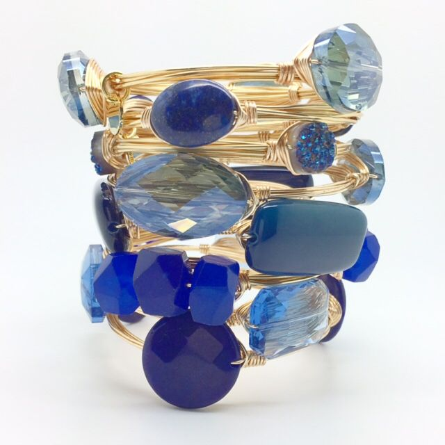 Cobalt bangles