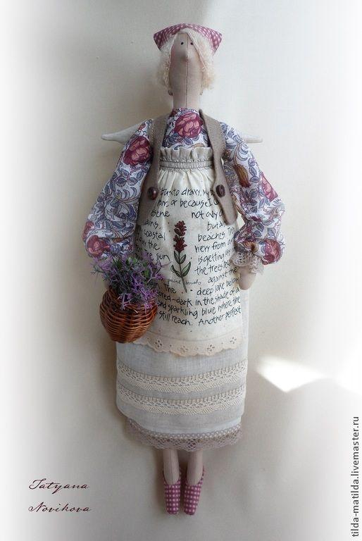 Купить Прованс.. Софи (домашняя фея Тильда) повтор по мотивам - брусничный, лиловый, тильда, фея ♡