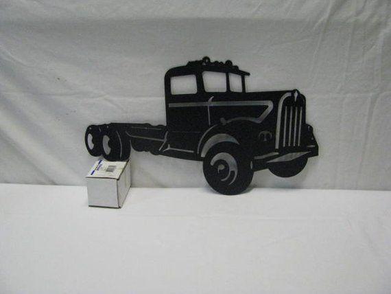 Kenworth Truck metal wall art plasma cut decor gift idea