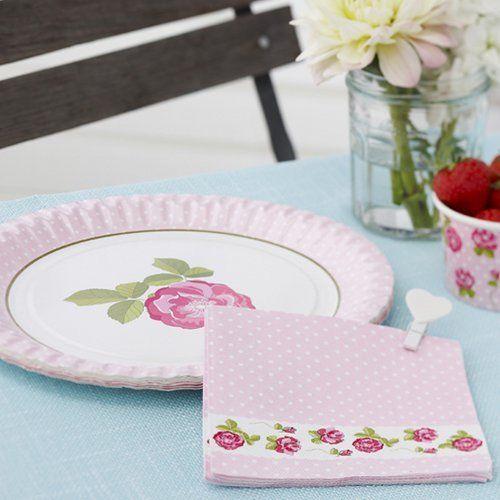 Shabby Chic Vintage Rose Design Paper Napkins Pack 20 great for ...