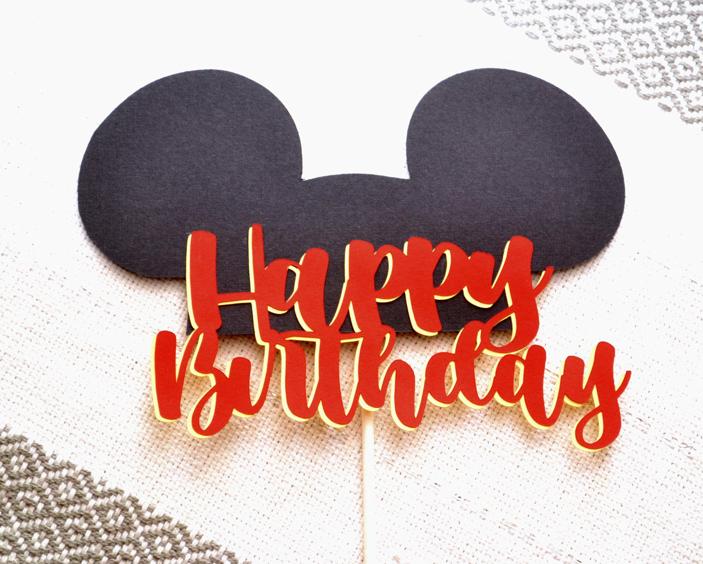 Mickey Mickey cake topper,Mickey party decor,Mickey birthday Mickey or Minnie topper 12 birthday topper Minnie topper any age topper