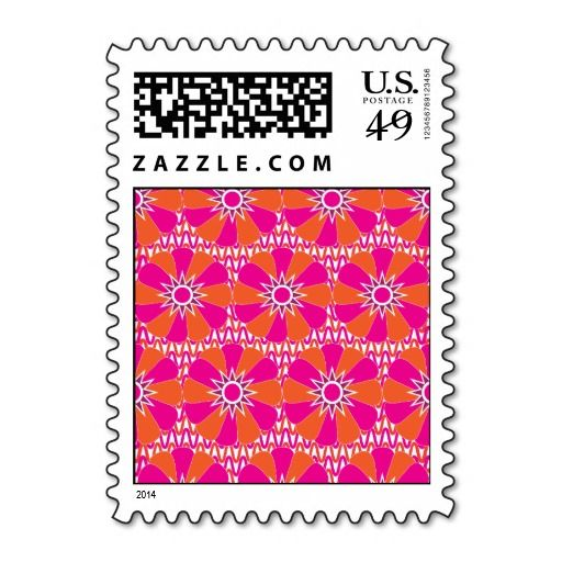 Hot Pink and Orange Bright Flower Pattern Postage so please read the important details before your purchasing anyway here is the best buyDeals          	Hot Pink and Orange Bright Flower Pattern Postage Review from Associated Store with this Deal...