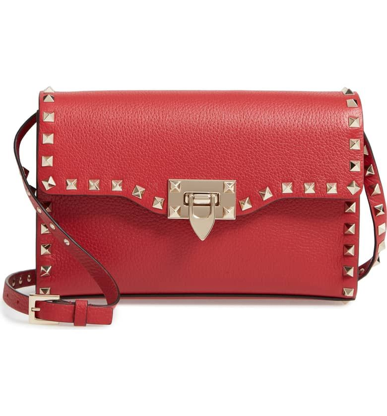 6f6fcea18cb0d Medium Rockstud Leather Crossbody Bag by VALENTINO GARAVANI. I have been  lusting after this bag