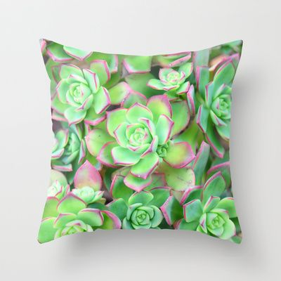 Succulents  Throw Pillow by Lisa Argyropoulos - $20.00
