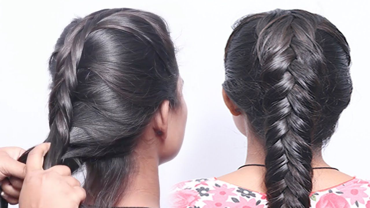 Simple Fishtail Braid Hair Style - Easy Way  How to Make