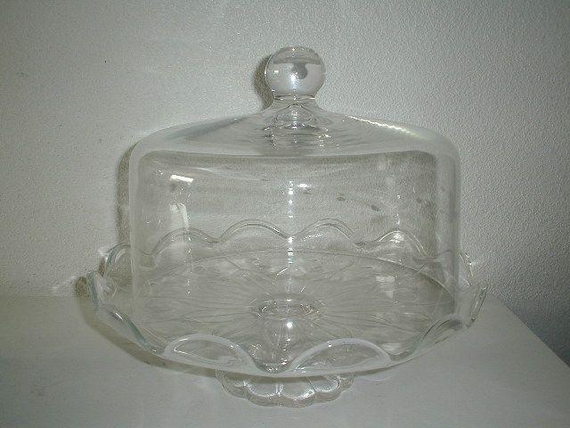 Vintage Princess House Cake Plate w/Dome in Box Crystal Heritage Pattern Sweet & Vintage Princess House Cake Plate w/Dome in Box Crystal Heritage ...