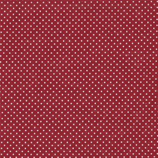 Baumwolle Rot m/Tupfen Weiß