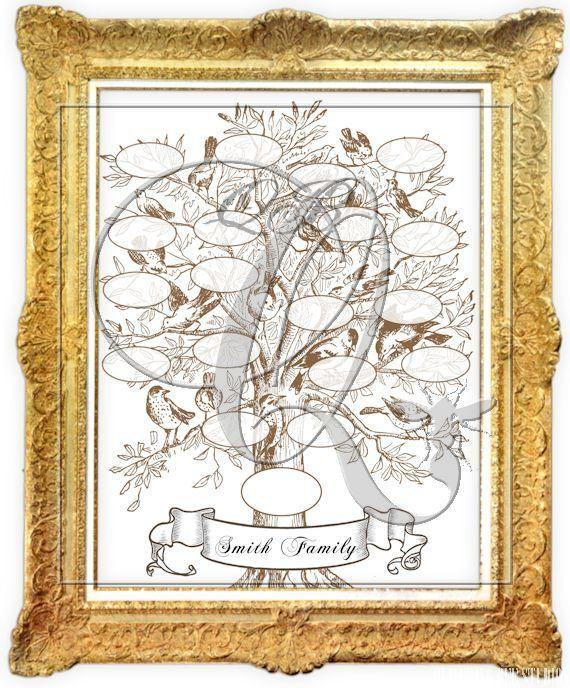 Printable Family Tree Template Digital Download Genealogy Chart