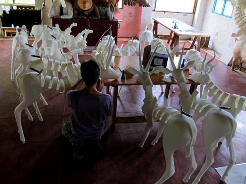 The Gazelles being built