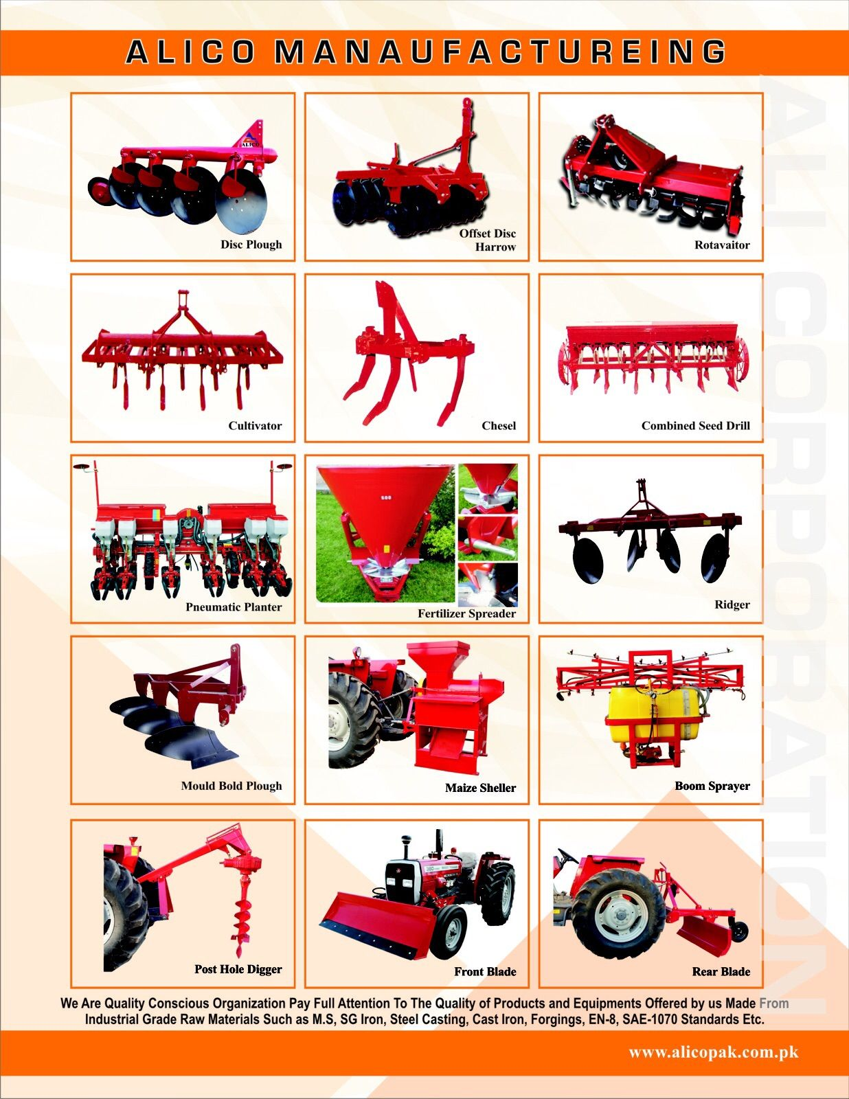 We manufactures all type of agriculture implements at low cost and