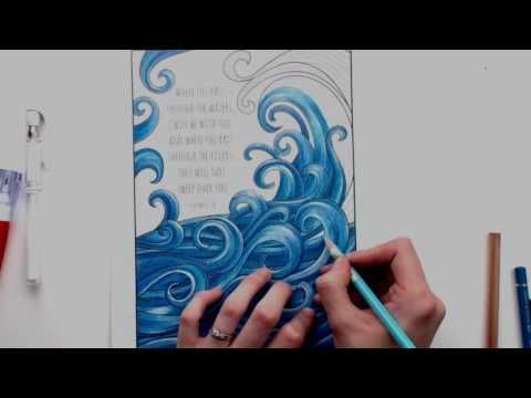 Coloring Tutorial Adding white highlights using a white gel pen - best of coloring page of a hair brush