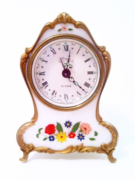 A Lovely Handcrafted Vintage Musical Alarm Clock Made In The