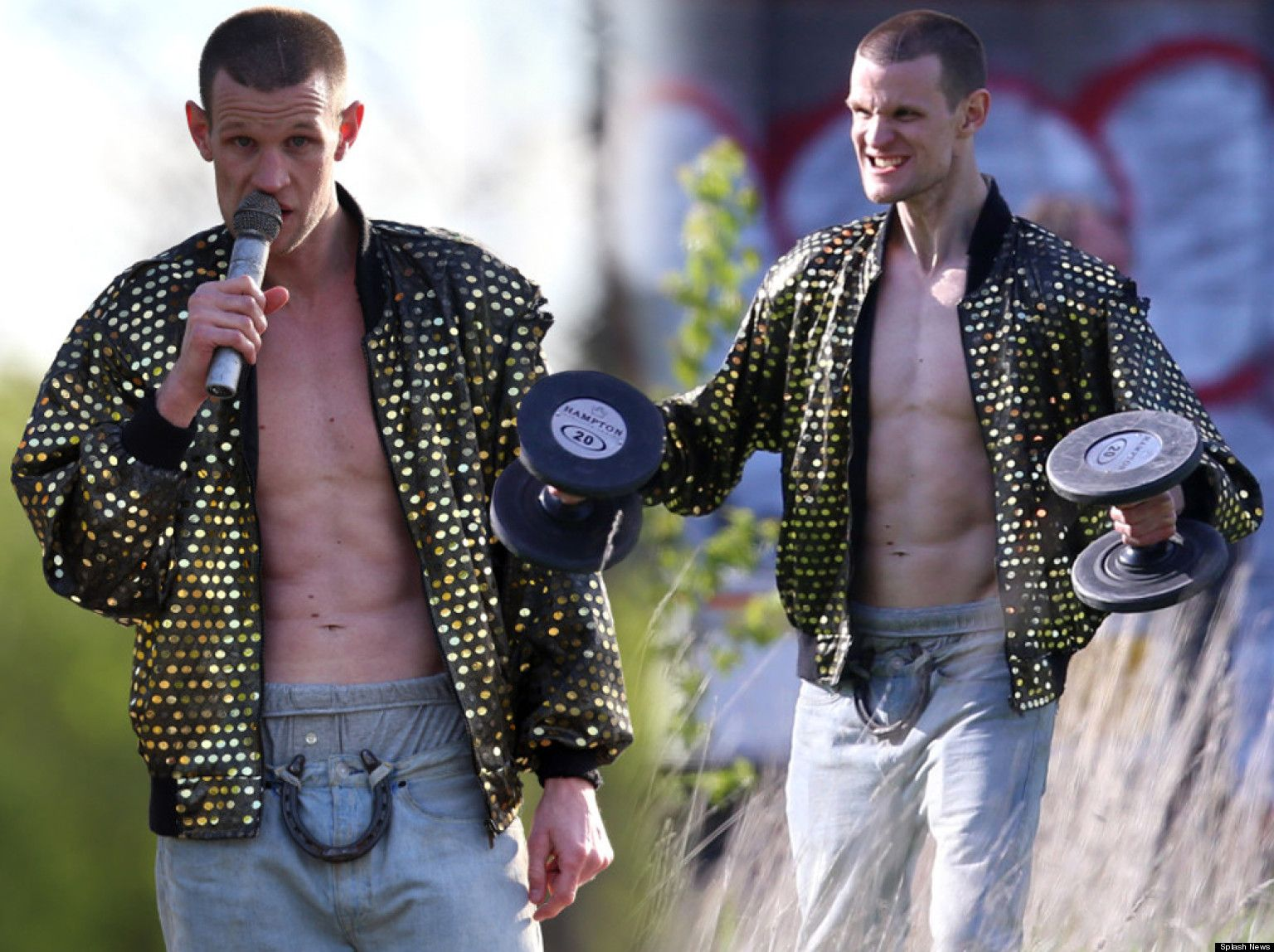 PICTURES: Matt Smith Takes A Lesson From Ryan Gosling.  What....what....i....oh my...