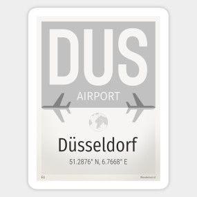 DUS Dusseldorf Germany Flag TShirt TeePublic