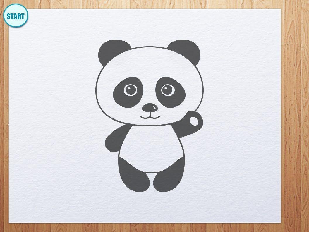 how to draw a panda art hub