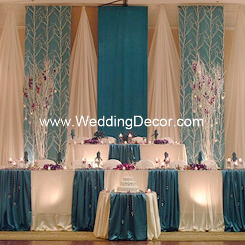 Decorating With Tree Branches For A Wedding | Wedding Backdrop   Turquoise  U0026 White | Flickr