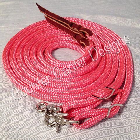 Custom Split Rope Reins with Snaps Custom by CounterCanterDesigns