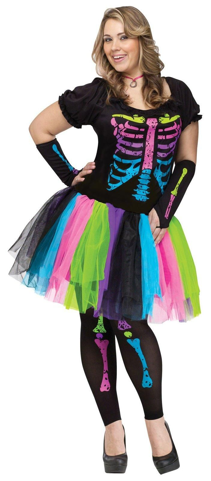 Adult Funky Punk Bones Plus Size Costume Plus size