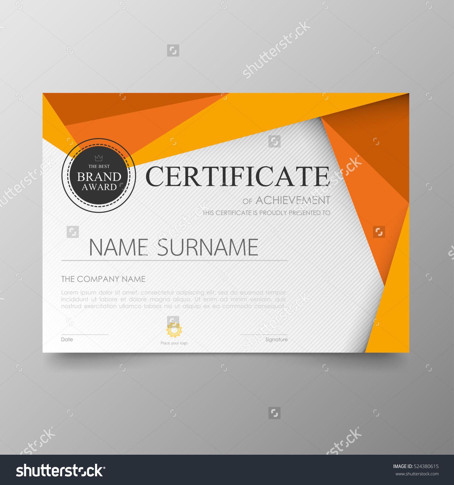Pin Oleh Graphic Designer Di Certificate Design