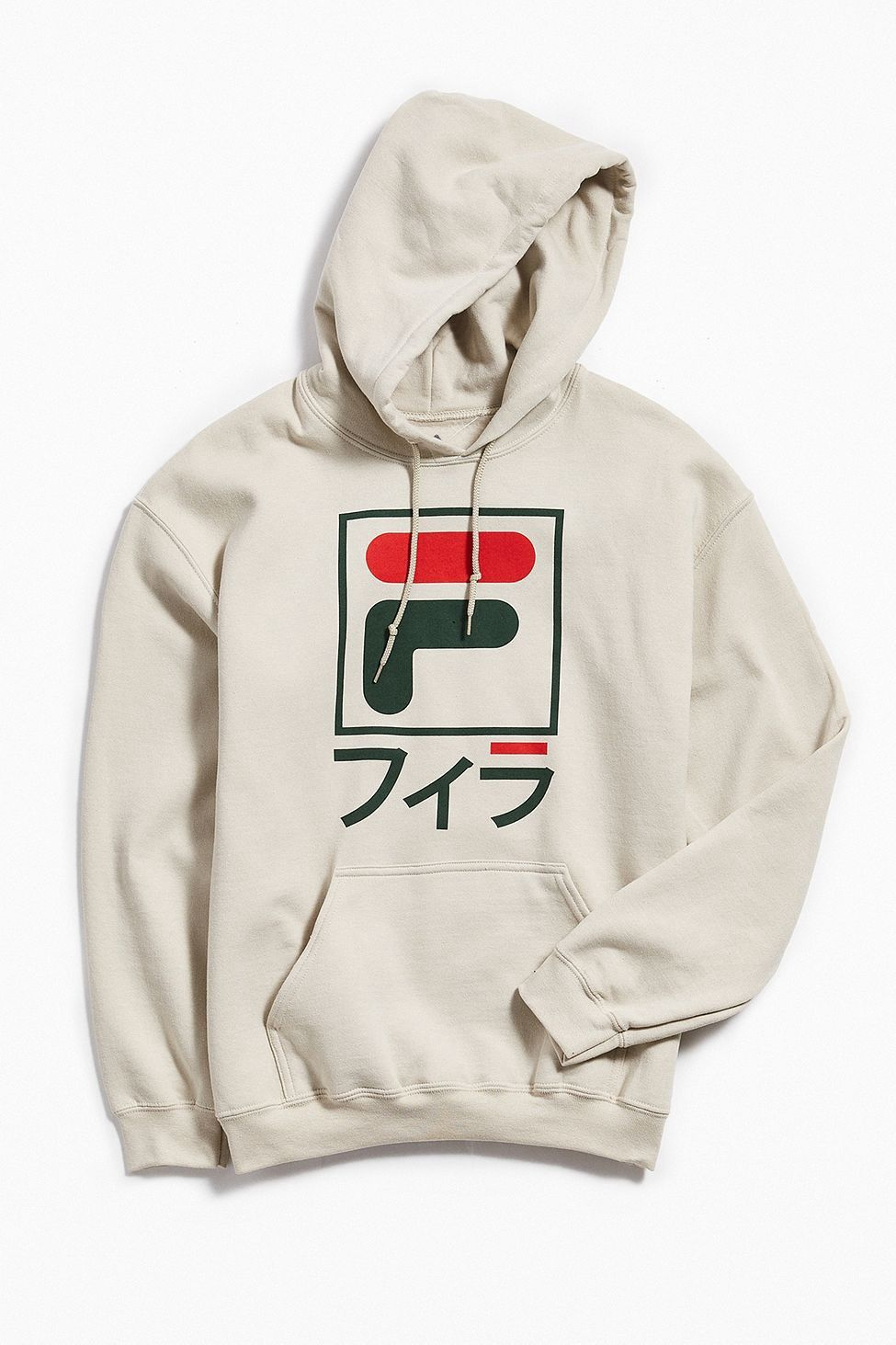 dc5b761a37 Urban Outfitters Fila International Sport Hoodie Sweatshirt - Gold M ...