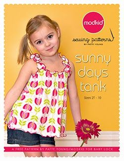 Free Pattern Modkid Sunny Days Tank with shirring