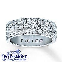 5575d9f1ac8b 14K White Gold 1½ Carat t.w. Leo Diamond Band