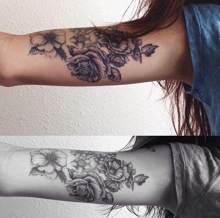 flower tattoos are so beautiful Tattoos Pinterest Tatuajes