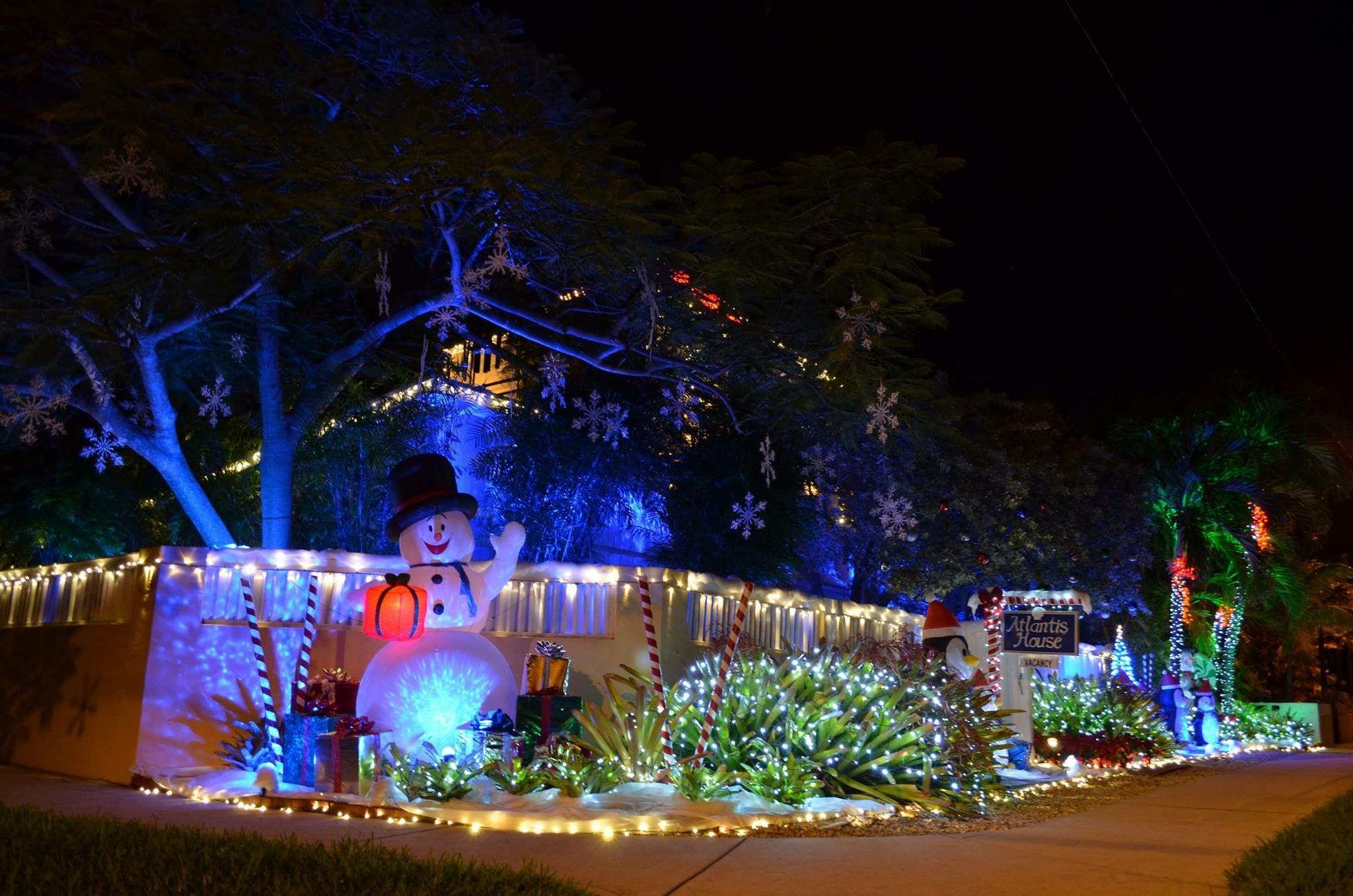 KeyWest Christmas lights at Atlantis House on Atlantic Blvd., #Key ...