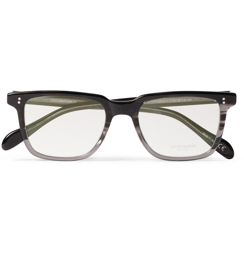 Mens Eyeglass Frames Square : Oliver Peoples NDG Square-Frame Acetate Optical Glasses ...