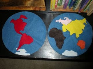 Felt world geography map this site has great montessori based felt world geography map this site has great montessori based geography ideas gumiabroncs Images