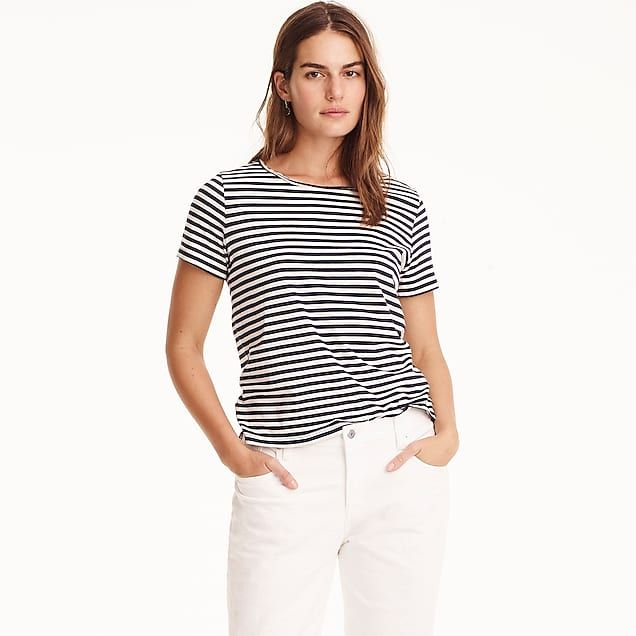 8f444ce79 Supersoft Supima® raw-edge T-shirt in stripes | Fav Looks | Tank top ...
