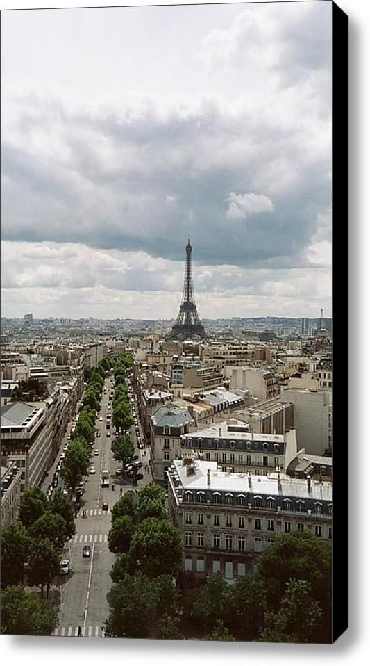 Across The Arrondissements Of Paris Stretched Canvas Print / Canvas Art By Loud Waterfall Photography Chelsea Sullens