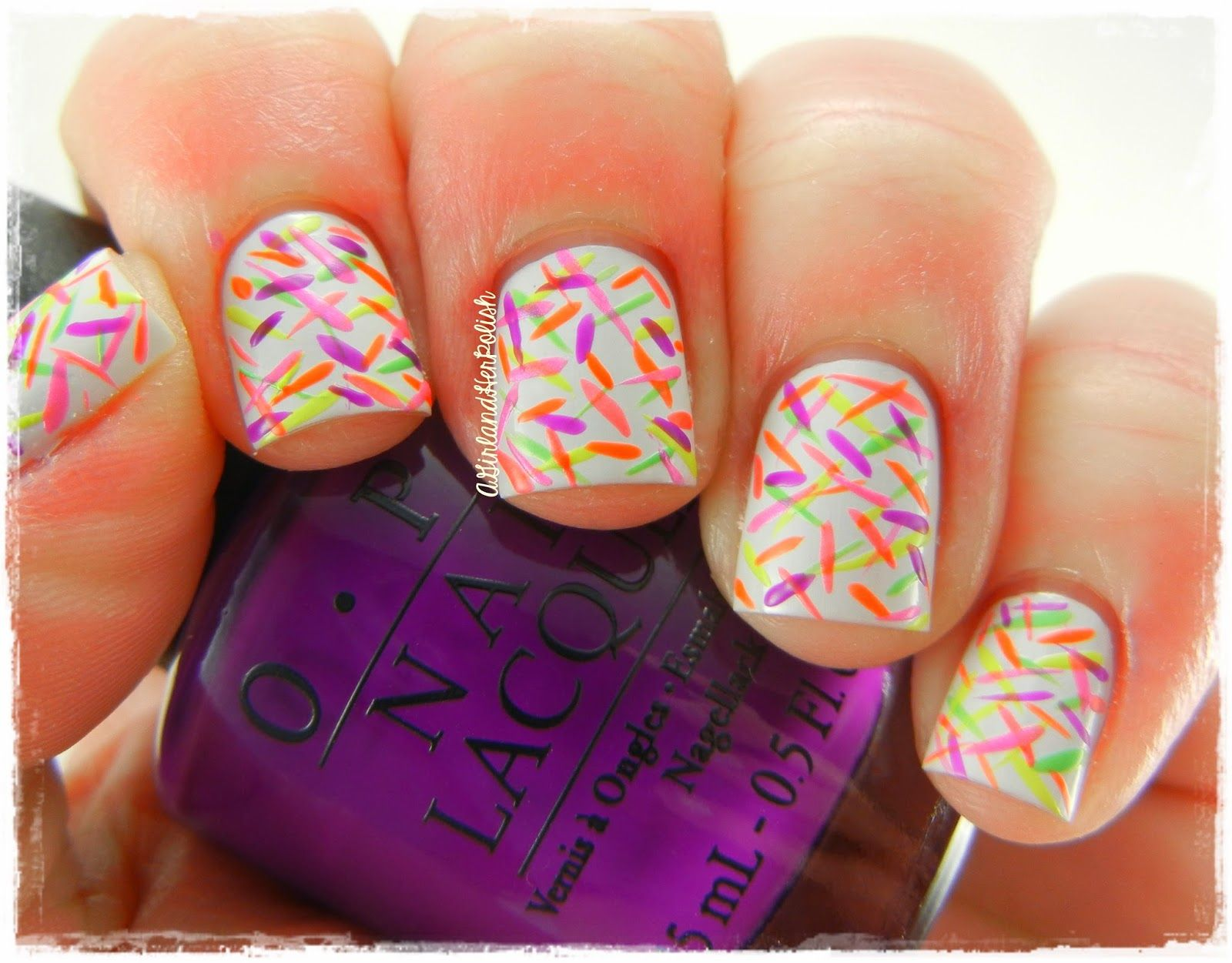A Girl and Her Polish: OPI Neon Lines nails | Nails | Pinterest ...