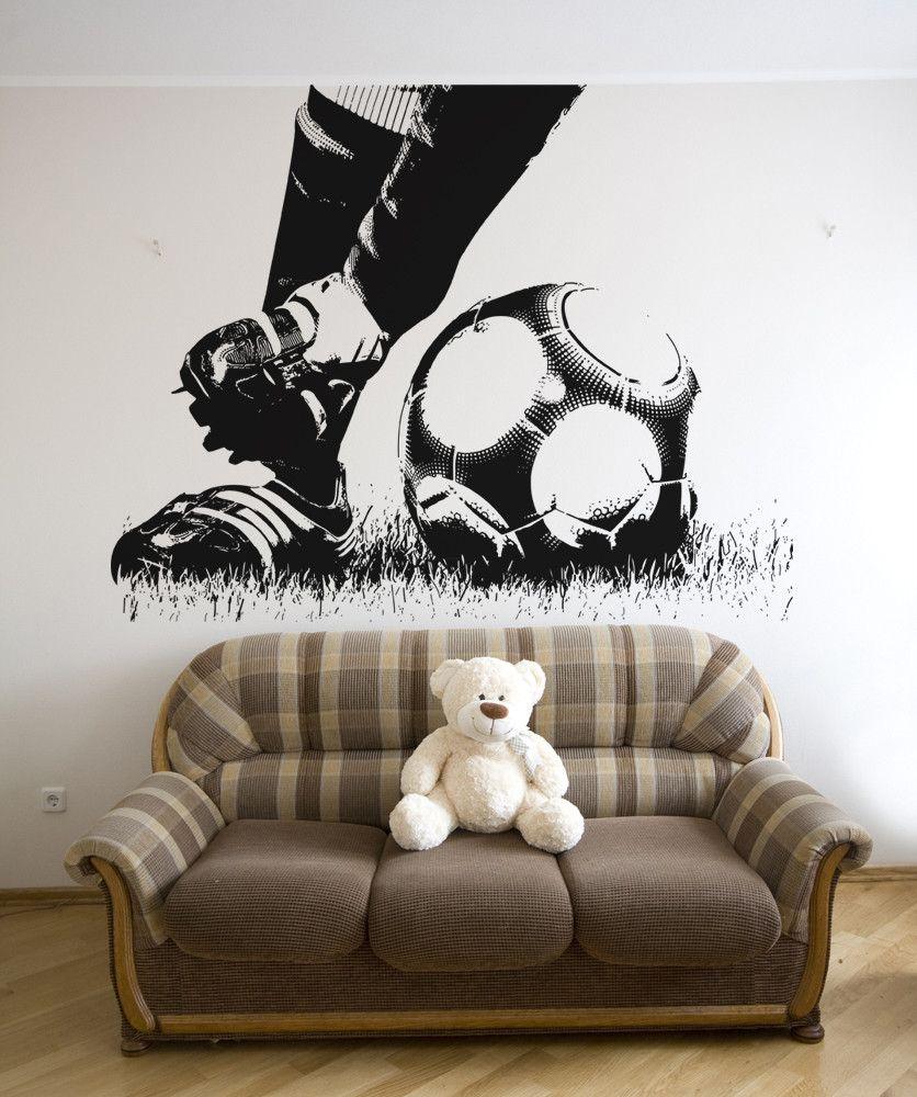 Soccer Football Action Feet Kicking Ball wall decal. #5074 ...