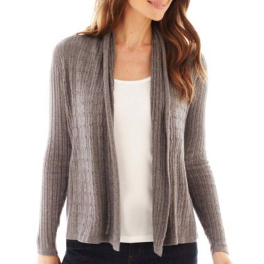 c84faf649186 St. John s Bay® Long-Sleeve Flyaway Cardigan Sweater found at  JCPenney
