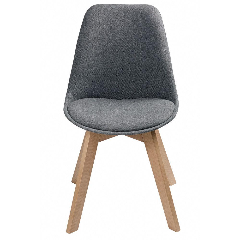 Grau Melierter Skandinavischer Stuhl