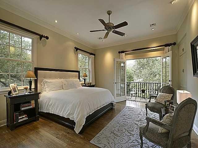 French Door Balcony To Master Bedroom 3004 Pleasant Run Pl Austin Tx Bedrooms