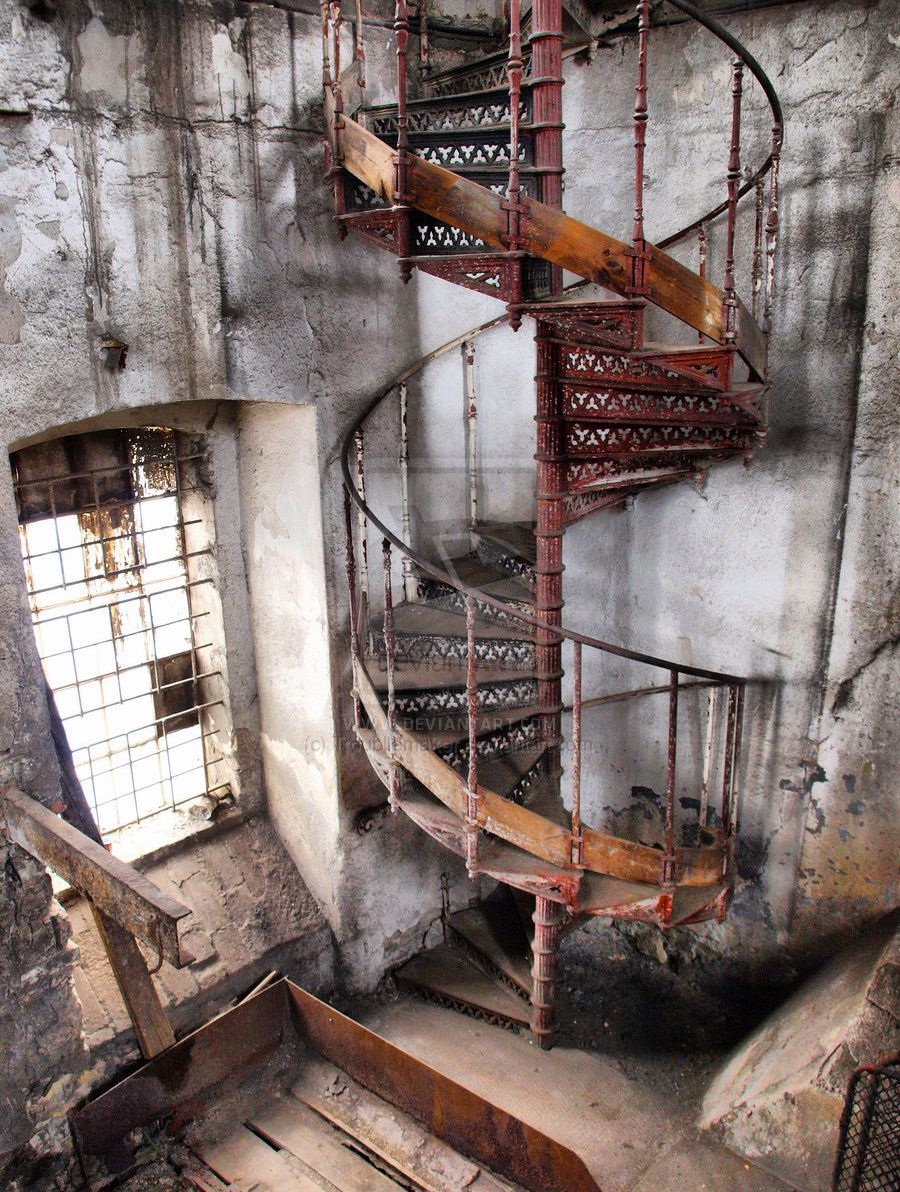 rusty spiral staircase by ~Troubllemaker on deviantART | Staircase | Pinterest | Spiral ...