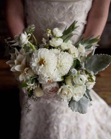 Gorgeous bouquet by Saipua, with fuzzy dusty miller leaves