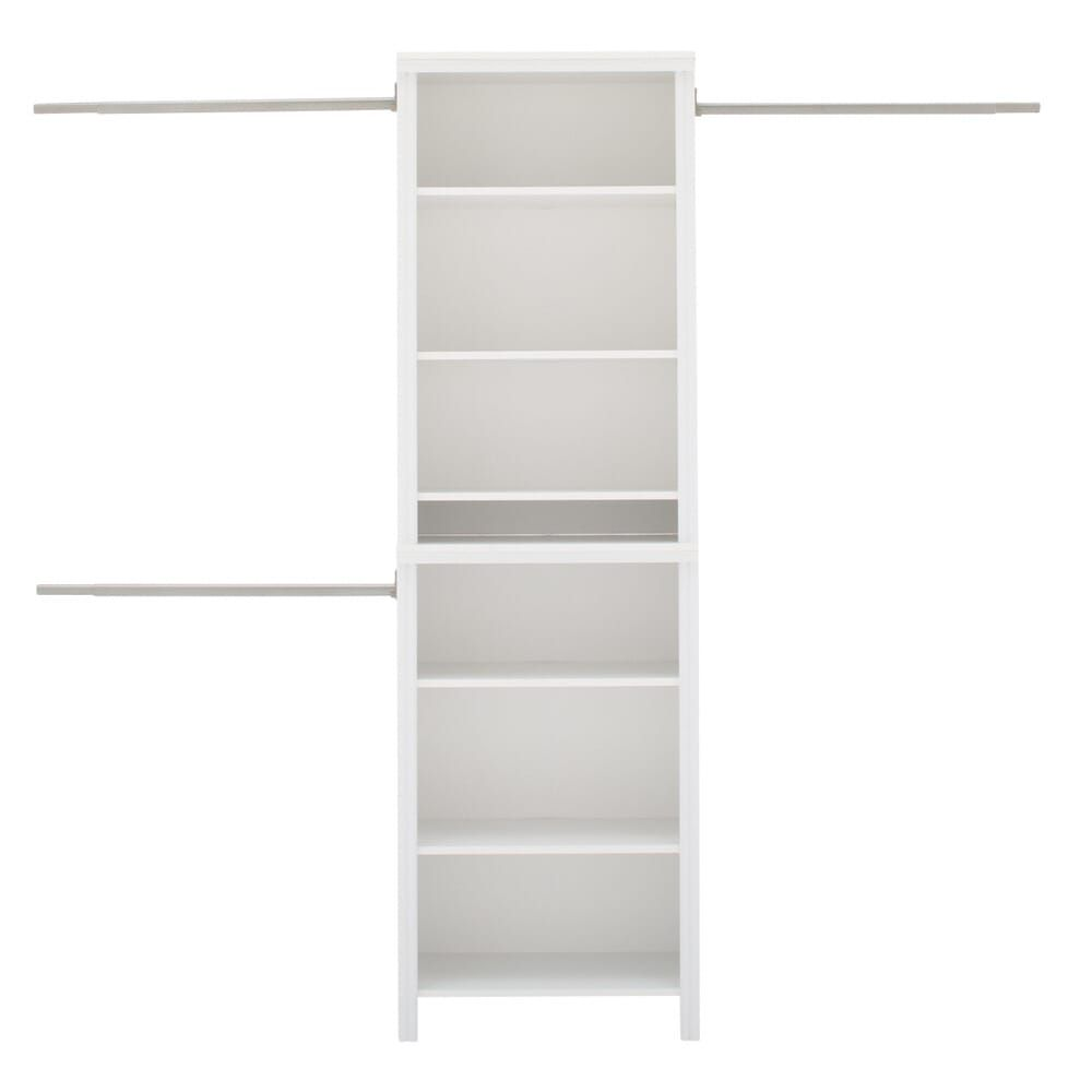 Closetmaid Impressions Standard 60 In W 120 In W White Wood Closet System 14865 The Home Depot In 2020 Wood Closet Systems Closet System Closet Planning