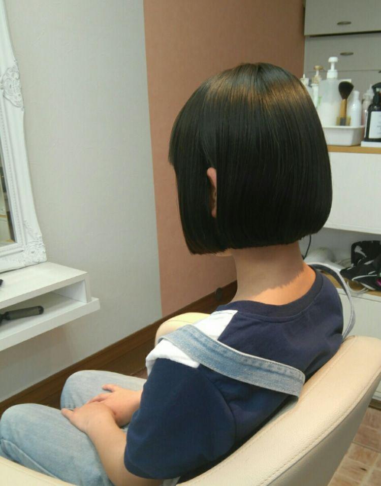 マチルダボブに ヘアドネーション 2021 マチルダ ボブ 前髪ありヘア ショートのヘアスタイル